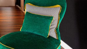 Sitzbezug, Kontraste durch Farben und Stoffe